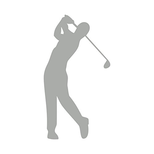 Golfspieler Aufkleber Golfer Golf Sport Autoaufkleber 12 cm (Silber)