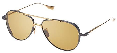 DITA Gafas de Sol SUBSYSTEM Black Iron Yellow Gold/Golden Amber 58/15/140 hombre