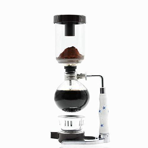 CENPEN Vakuum-Kaffeemaschine Syphon Kaffeemaschine Haushalts Syphon Pot Manuelle Kaffeemaschine Gläser Set Syphon Kaffeemaschine Set Syphon Pot (Farbe: weiß, Größe: 36x15cm)