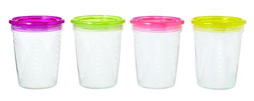 Tigex Pack 4 recipientes de conservación de comida
