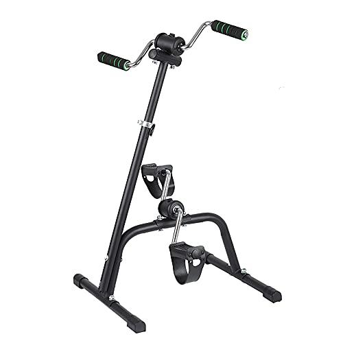 Ejercitador de pedales, Pedales dobles para brazos y piernas con resistencia variable, para tonificar los músculos, mejorar la circulación, para entrenar en casa/Black / 95x40x40cm