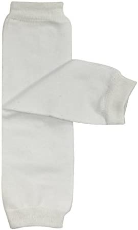 Wrapables Colorful Baby Leg Warmers Solid White product image
