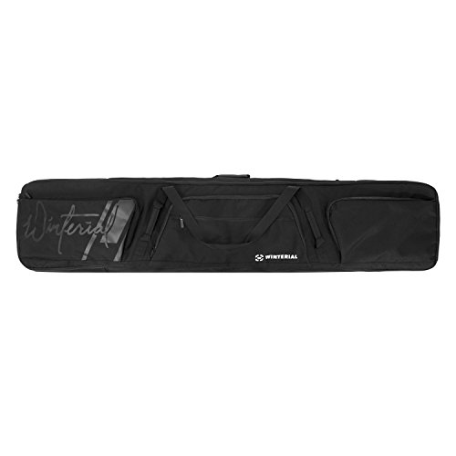 Winterial 2019 64 x 11.5 inch(162.5 x 29cm) Rolling Double Snowboard Bag with Wheels, Fits 2 Boards, Double Layered Water Resistant Perfect for Road Trips and Air Travel, Fits 2 Boards