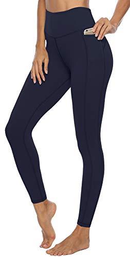 JOYSPELS Leggings Damen, High Waist Sporthose Lang Laufhose Sportleggins Sportbekleidung, Navyblau, M