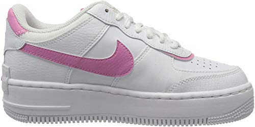 Nike W AF1 Shadow, Scarpe da Basket Donna, White/White-Magic Flamingo, 36 EU