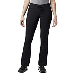 Columbia Women's Standard Anytime Outdoor Boot Cut Casual Pant, Black, 2 Short