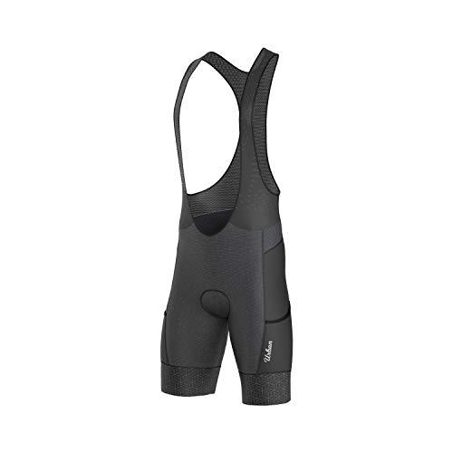 Urban Cycling Apparel Men's Classic Black Short Sleeve Jersey, Bib Shorts (Large, Bib Shorts Only)