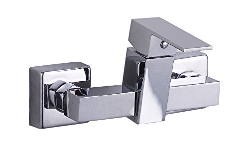 DP Grifería - Grifo monomando de ducha, color plateado, serie Arce