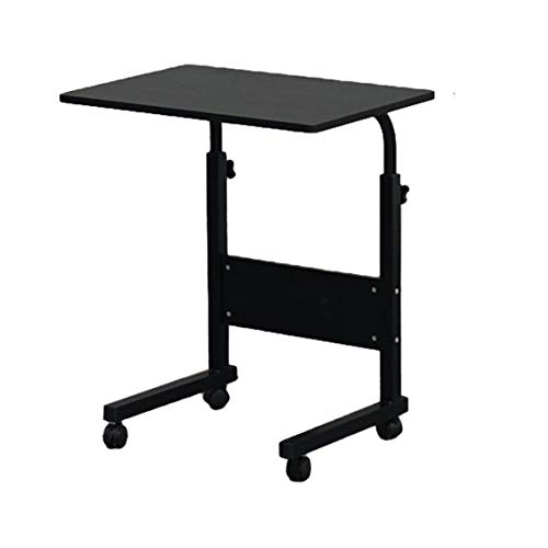 Removable Computer Desk Home-Use Durable Modern Desk with Chipboard & Steel Side & Baffle, S-Size, Black