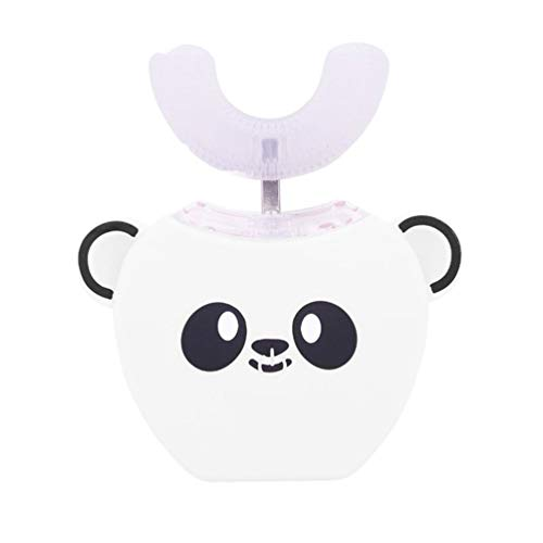 FOOX Automatic Electric Whitening Zahnbürste, for Kinder 360 ° Ultraschall-Kaltlicht Whitening Zahnbürste (Color : White)