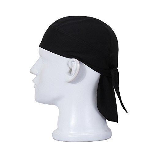 HASAGEI Sports Bandana Cap Herrem Damen Biker Bandanas Kopftuch Hat - Schwarz