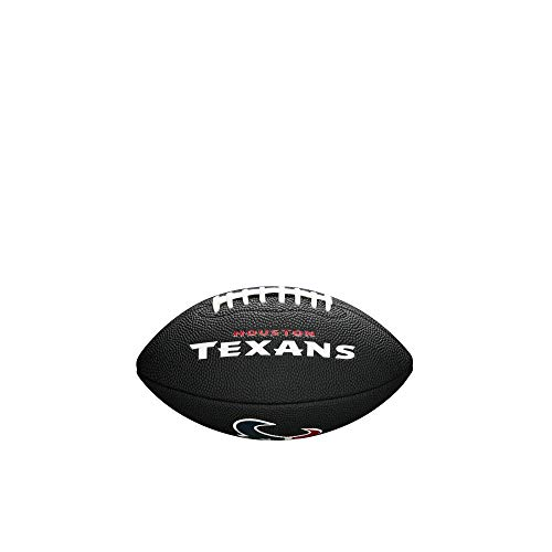 NFL Team Logo Mini Fußball, Schwarz - Houston Texans