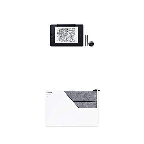 Wacom Intuos Pro Paper Edition Stifttablett Größe L mit Papierklemme inkl. Pro Pen 2 Eingabestift, Kompatibel mit Windows und Apple plus Soft Schutzhülle Large, grau