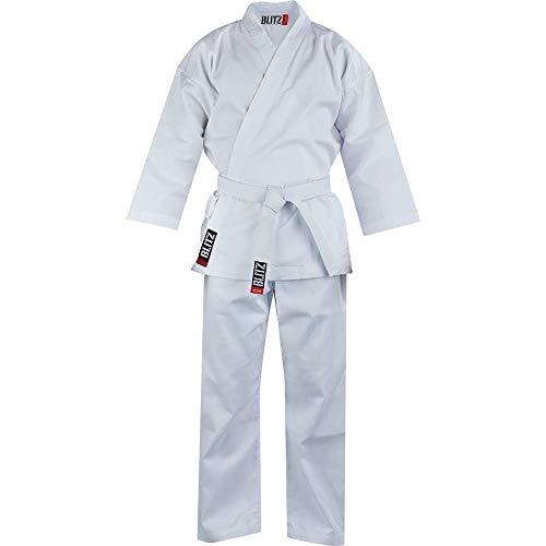 Blitz Sport Karate Kimono, Bambino, Bianco, 150 cm