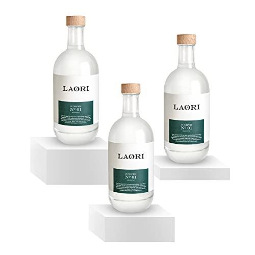 Laori Juniper No 1 | Alkoholfreie Alternative zu Gin | Natürliche Botanicals | Frei von künstlichen Aromen | Vegan | Zuckerfrei | Gin-typischer Geschmack | Mild-würzige Frische | 3x500 ml