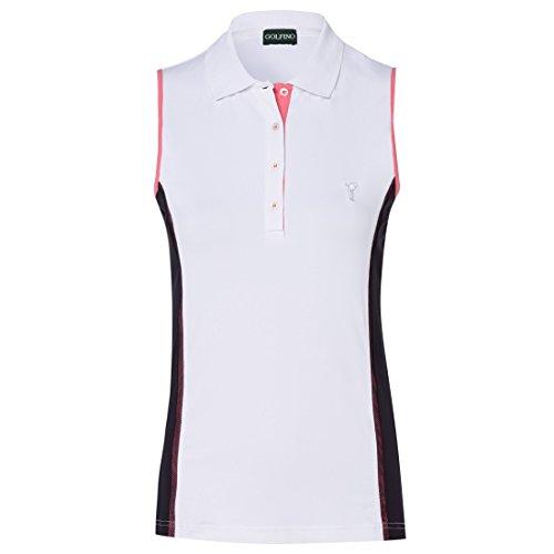 GOLFINO Damen Polo mit Kontrasteinsätzen Größe 38 (M)