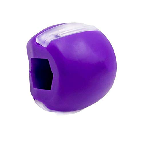PLOKIJ Jaw Exerciser Double Chin Reducer Eliminator can Tone Your Face, Look Younger and Healthier, Facial Exerciser Helps Reduce Stress and CravingsPURPLE