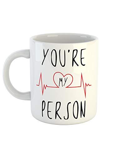 clothinx Kaffeetasse mit Aufdruck You Are My Person