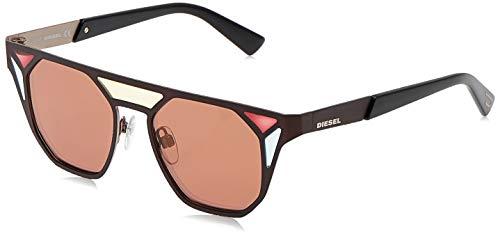 Diesel DL0249 50G 48 Monturas de gafas, Marrón (Marron Oscuro/), 48.0 Unisex Adulto