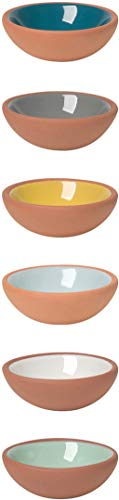 Now Designs Terracotta Pinch Bowls, Set of 6