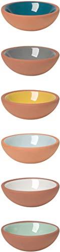 Terracotta Pinch Bowls, Set of 6