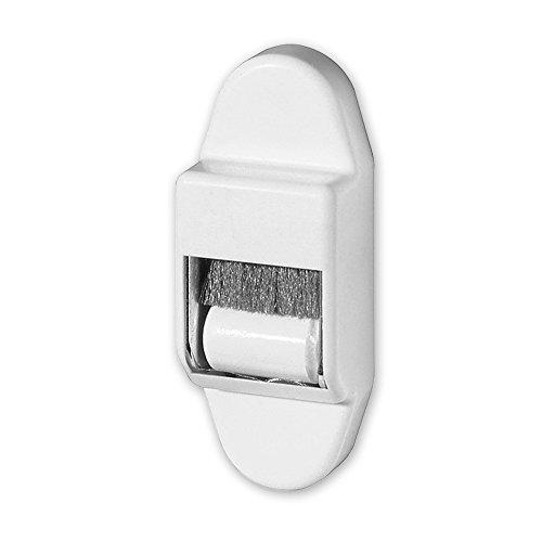 Mini-Gurtführung mit Bürstendichtung und Leitrolle, bis 15 mm Gurtbreite, Rolladengurt, Energieeinsparung, von EVEROXX