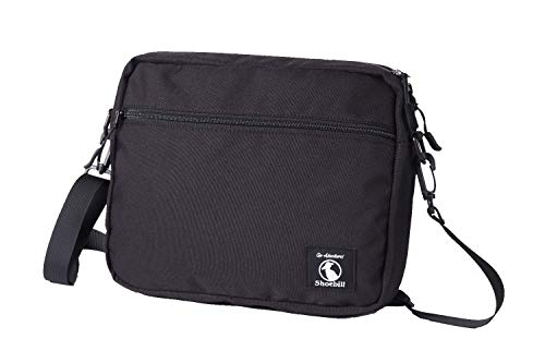 Shoebill サコッシュ バッグ ショルダーバッグ ナイロン 防水 登山 アウトドア 軽量(ブラック)