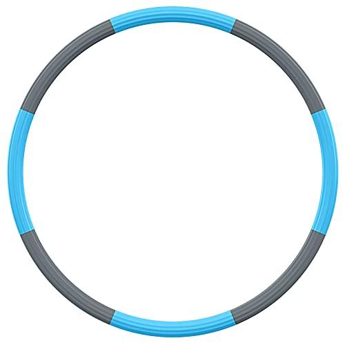 BLAIKOYI Hula Hoop Reifen, Hula Hoop Reifen Erwachsene für Fitness, 1,8 kg-3,5 kg Gewichtsverstellbarer, Rein Hoop für Erwachsene & Kinder zur Gewichtsabnahme und Massage