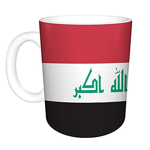 N\A 11oz Kaffee/Tee weiße Tasse (Zwei Seiten) irakische Flagge
