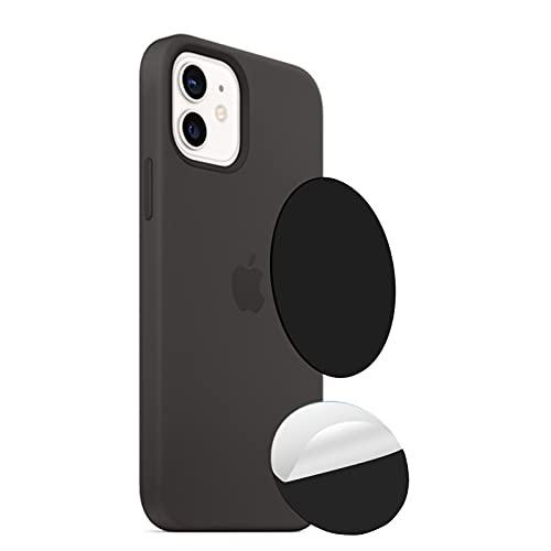 Aimtel Mag Safe Magnet Aufkleber Kompatibel mit iPhone 12 Hülle, Starker Magnetischer Kabelloser Lademagnet Mag Safe Aufkleber Magnet Kreis für iPhone 12 Pro Max 12(Schwarz)