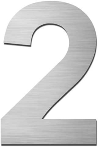 Hausnummer:1 MOCAVI HS40 Hausnummer selbstklebend in anthrazit-grau H/öhe 5,5-7,5 cm
