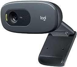 Logitech C270 HD Webcam, HD 720p, Widescreen HD Video Calling, HD Light Correction, Noise-Reducing Mic, For Skype, FaceTime, Hangouts, WebEx, PC/Mac/Laptop/Macbook/Tablet - Black