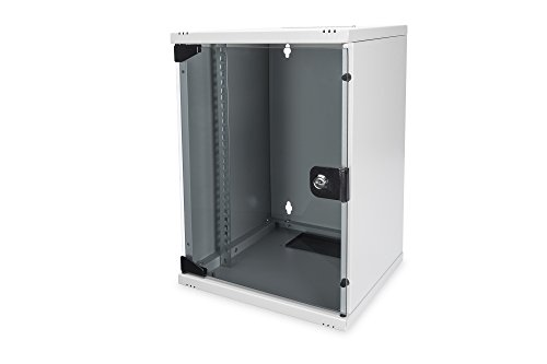 DIGITUS Netzwerk-Schrank 10-Zoll - 9HE - Wandmontage - HxBxT 464x312x300mm - Traglast 30kg - Nutztiefe 250mm - Grau