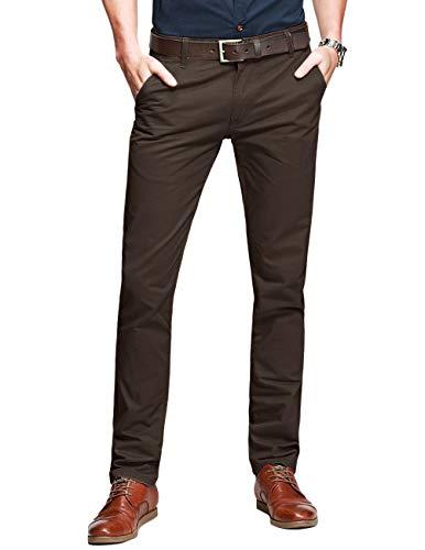 Matchstick Pantalón Chino Tapered para Hombre #8025(Caqui Oscuro (Dark Khaki),34W x 31L (ES 44))