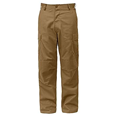 Rothco Relaxed Fit Zipper Fly BDU Pants, Coyote Brown, XL