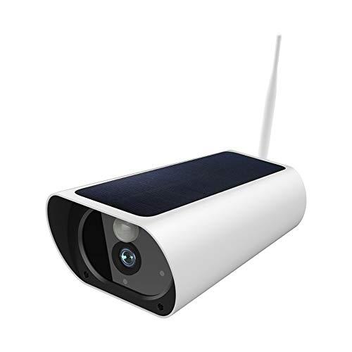 Cámara IP de Seguridad Solar para Exteriores, cámara HD 1080P WiFi, Punta de Alarma de visión Nocturna y Sensor de Movimiento PIR