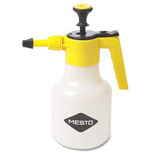 Mesto 3130G Pulverizador a presión universal (capacidad 1,5 l plástico boquilla ajustable solo agua con recipiente), Multicolor, 1,5 Liter