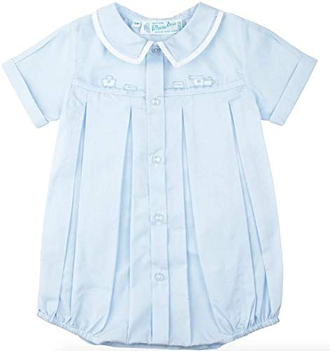 Feltman Brothers Baby Boys Blue Train Bubble Outfit (9M)