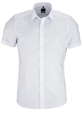 Level Five Body Fit - Short Sleeve Men's Shirt white 42 EU