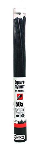 Oregon 295372E Nylium Mähfaden mit quadratischem Querschnitt, 3,75 mm, 42 cm (x50)