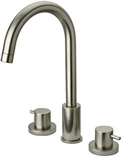 La Toscana 78PW214 Elba 8-Inch Widespread Lavatory Faucet with Metal Pop-Up Drain, Brushed Nickel