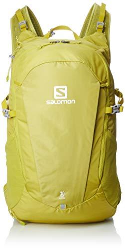 Salomon Trailblazer Mochila de Senderismo/Viaje, Espaciosa y práctica, Capacidad 30l, Unisex Adulto, Amarillo (Citronelle), Talla única