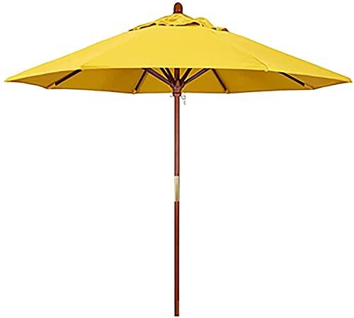 Sombrilla de jardín Parasol Sombrilla de playa para patio, con 8 varillas resistentes para sombrilla, para picnics familiares en la playa, porche, balcón para acampar, azul GCSQF210603(Color:Yellow;