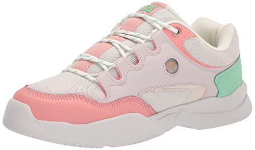 DC Women's DECEL Skate Shoe, Lilac Rose, 6.5
