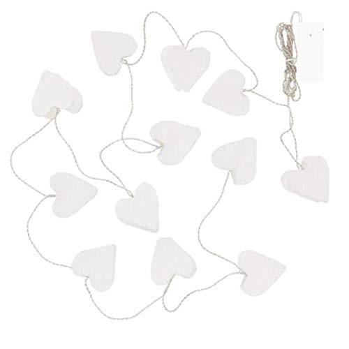 IKEA STRALA LED Lichterkette (12) batteriebetrieben; Herzen; Weihnachtsbeleuchtung