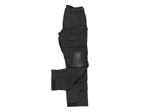 BEGADI Basics Combat Pants/Hose, mit 10 Taschen & abnehmbaren Knieschonern - schwarz
