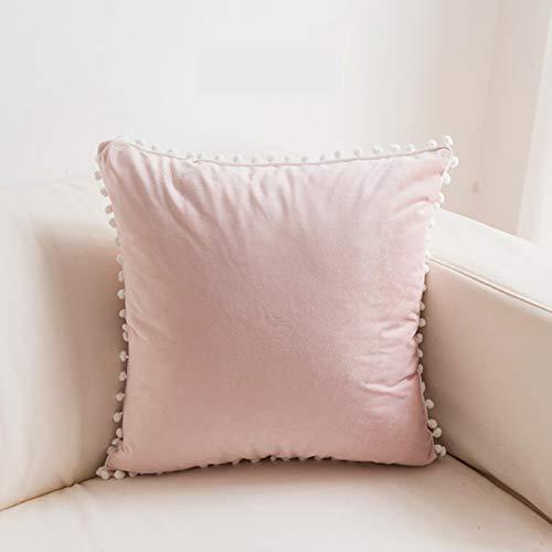 Cojín Decorativo Rosa de Terciopelo para sofá, Almohada Decorativa para habitación de Princesa, decoración romántica para el hogar, C, 55x55cm