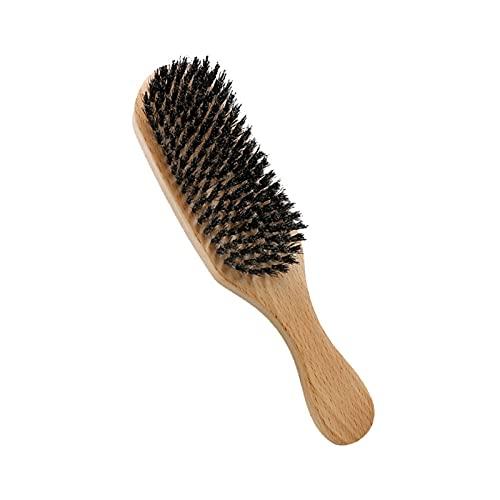 Brocha de Afeitar, Hecho a Mano Ergonomía Ligero Estilo de Cabeza Accesorios Espuma Jabón Cepillo de Barba Mango de Madera de Haya Afeitado Cepillo (Color : Color de la Madera)