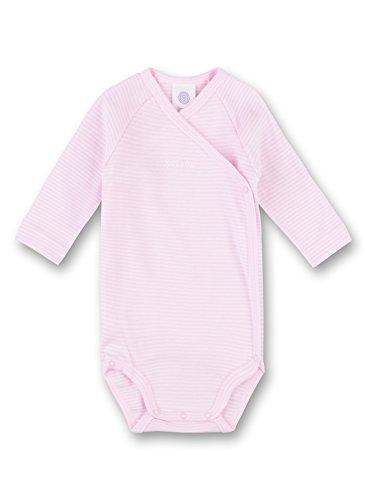 Sanetta Body portefeuille rayé à manches longues bébé, rose
