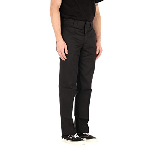Dickies Slim Fit Straight - Pantalones para hombre, Negro (Black), W30/L32